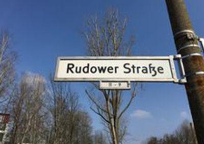 Straßenschild Rudower Str.